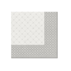 Serwetki 40x40 Airlaid Subtle Grid Silver