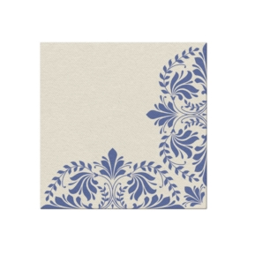 Serwetki 40x40 Airlaid Ivy Motive (dark blue)