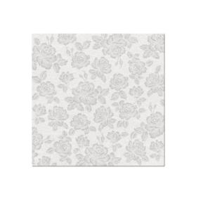 Serwetki 40x40 Airlaid Subtle Roses (silver)