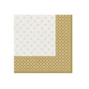 Serwetki 40x40 Airlaid Subtle Grid (gold)