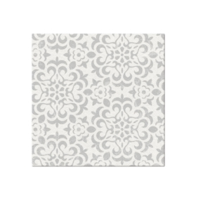 Serwetki 40x40 Airlaid Ornament Grey
