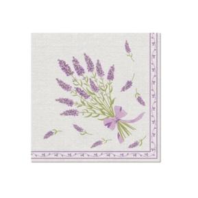 Serwetki 40x40 Airlaid Lavender Bouquet