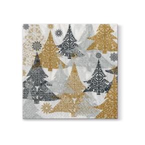 Serwetki 40x40 Airlaid Christmas Trees