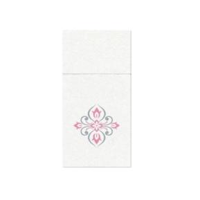 Serwetki 40x40 Pocket Airlaid Diamonds Comp pink