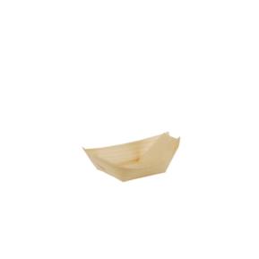 Fingerfood - Miseczki z drewna, 8,5x5,5 łódka a'50