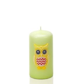 Świeca Funny Owls słupek 50/100