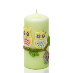 Świeca Funny Owls słupek 60/130