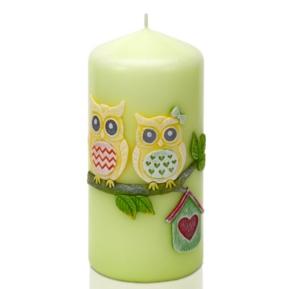 Świeca Funny Owls słupek 70/150