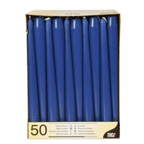 Świece stożkowe 2,2, 25cm ciemny niebieski, a'50