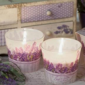 Świeca zapachowa szkło Lavender Basket FloralS0020