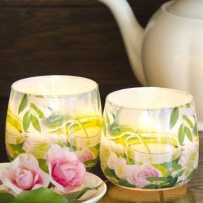 Świeca zapachowa szkło Royal Tea Rose S0022