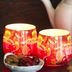 Świeca zapachowa szkło Royal Tea Cherry S0022