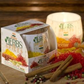 Świeca zapachowa szkło Herbs&Spices India S0023