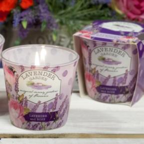 Świeca zapachowa w szkle Lavender Garden Rose
