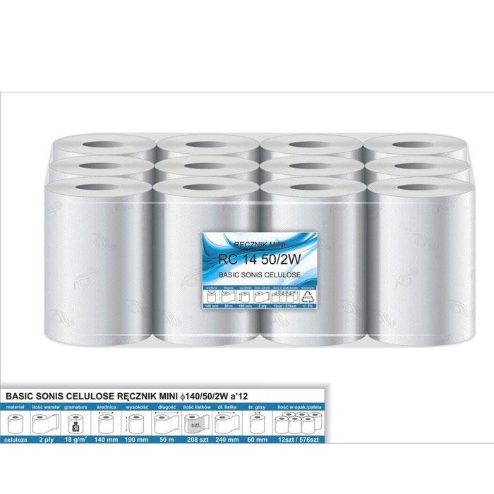 Ręcznik papierowy MINI, 100% cel, 2w, RP50MINIfi40