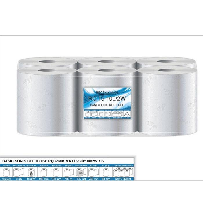Ręcznik papierowy RP100MAXI fi40, 2w, cel. 100%