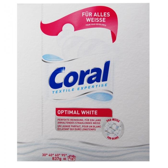 Coral Optimal White - proszek do bieli 837g/18prań