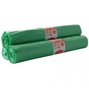 Worki LDPE 120l zielone a'25