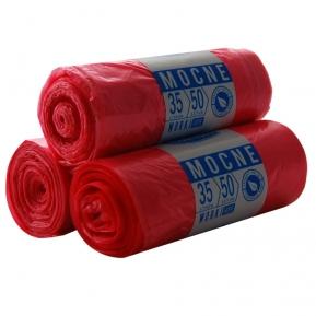 Worki HDPE 35l 50szt. czerwone