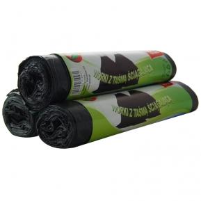 Worki LDPE 60l czarne z taśmą ściągającą 10 szt