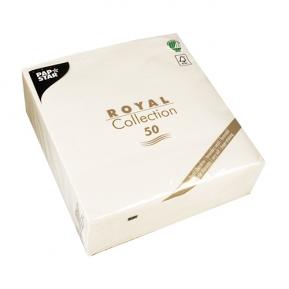 Serwetki Royal 1/4 40x40 biały, a'50