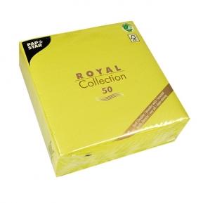Serwetki Royal Coll. 1/4, 40x40 a'50, limonka