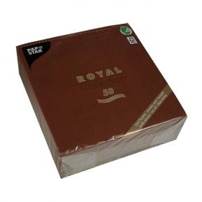 Serwetki Royal Coll. 1/4, 40x40 a'50, brązowy