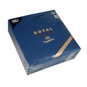 Serwetki Royal Coll. 1/4, 40x40 a'50, ciemny nieb.