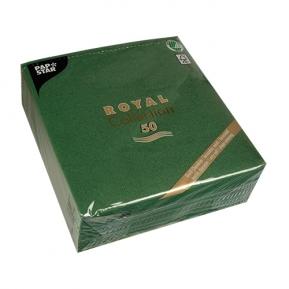 Serwetki Royal Coll. 1/4, 40x40 a'50, ciemny ziel.