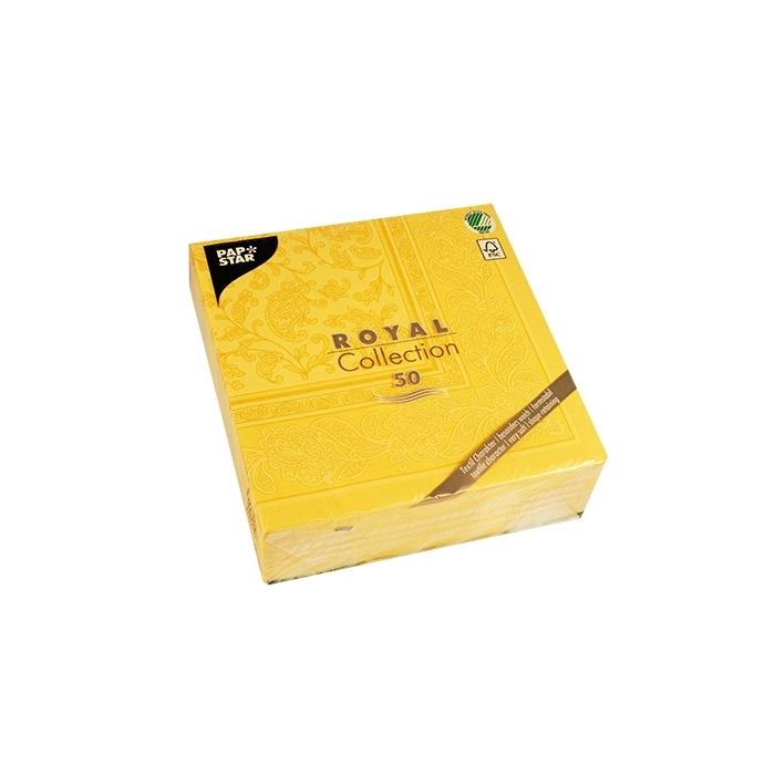 Serwetki ORNAMENTS, 1/4, 40x40, żółty, a'50