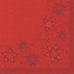 Serw.Royal Coll.1/4 40x40 a'50 JUST STARS czerwony