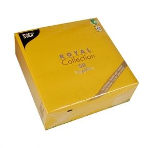 Serwetki Royal Coll. 1/4, 40x40 a'50, musztardowy