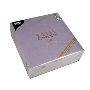 Serwetki Royal Coll. 1/4, 40x40 a'50, liliowy