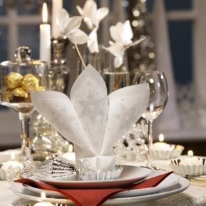 Serw.Royal Coll.1/4 40x40 a'50 JUST STARS biały