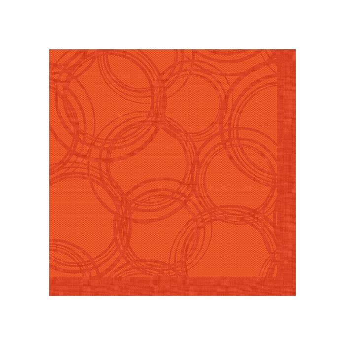 Serwetki Bubbles 1/4, 40x40 a'50, nektarynkowy