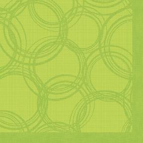 Serwetki Bubbles 1/4, 40x40 a'50, limonka