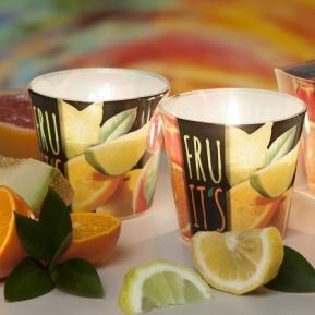 Świeca zapachowa szkło Fruit's Orange S0015
