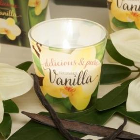 Świeca zapachowa szkło Vanilia Delicious 75g S0010